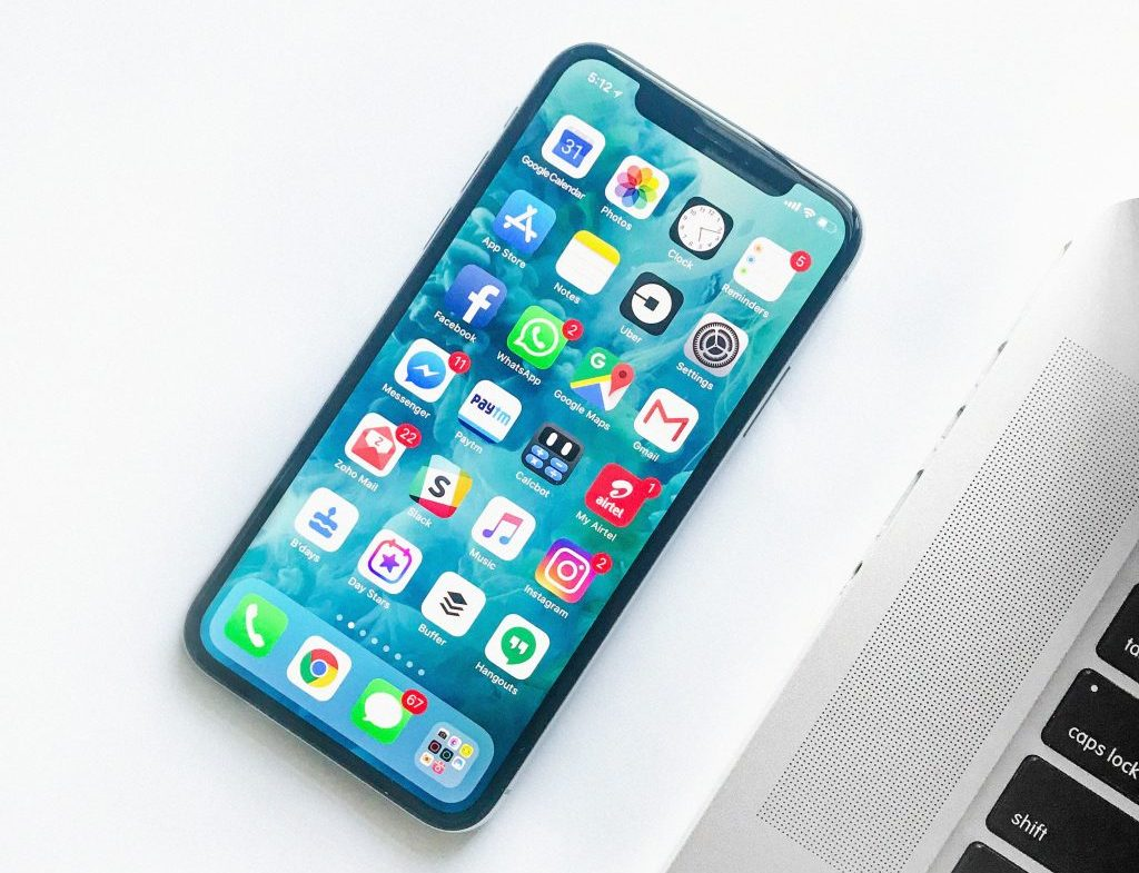 iphone x schermata home